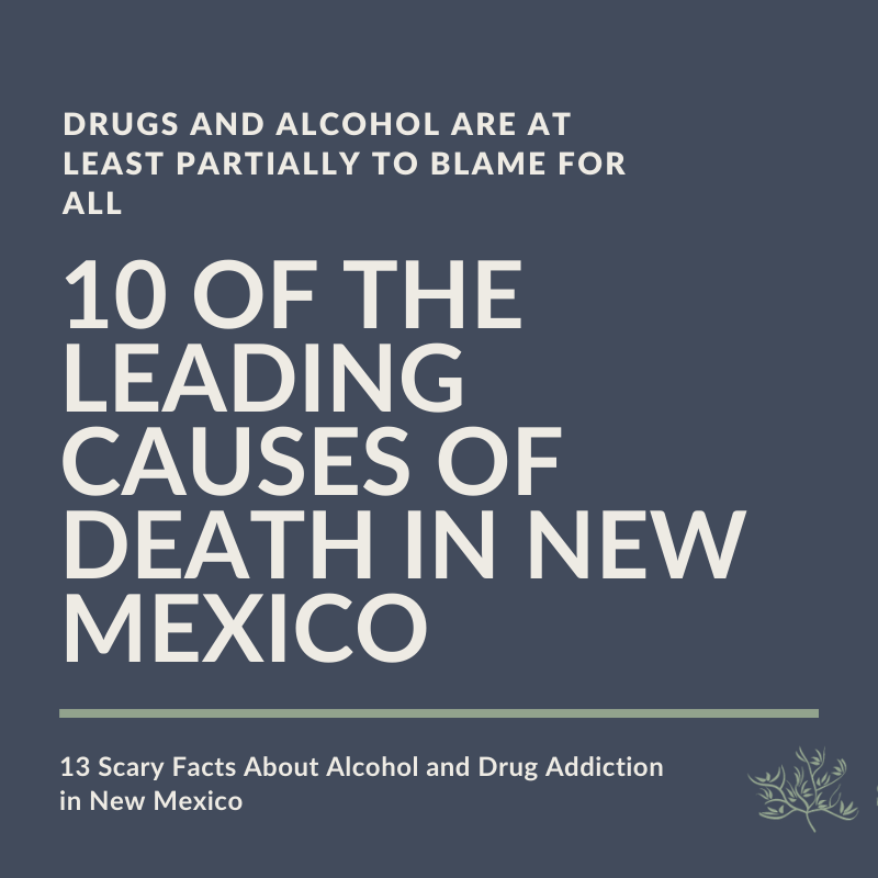 All 10 of the Leading Causes of Death in New Mexico